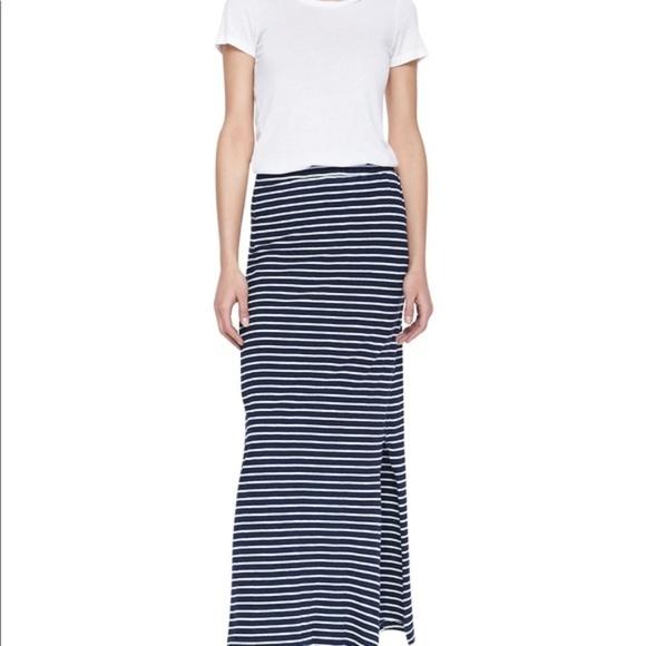 Splendid Dresses & Skirts - Splendid Venice sideslit striped maxi skirt blue